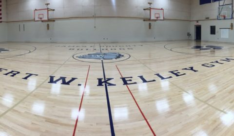 new gym floor at Doughty School